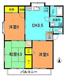 第3佐川ハイツA棟[202号室]の間取り