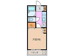 みどりホーム[1階]の間取り