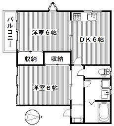 ドミールB[1階]の間取り