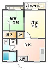 メゾンド戸張A棟[1階]の間取り