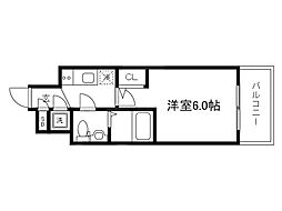 Osaka Metro谷町線 天神橋筋六丁目駅 徒歩4分の賃貸マンション 4階1Kの間取り