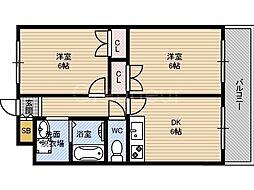 M'PLAZA城東六番館[8階]の間取り