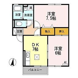 トミユウ・ボラタ[2階]の間取り
