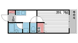 JR姫新線 余部駅 3.1kmの賃貸アパート 1階1Kの間取り