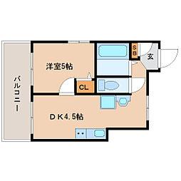 エコービル[5階]の間取り