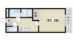 JR東海道・山陽本線 東加古川駅 徒歩14分の賃貸アパート 1階1Kの間取り