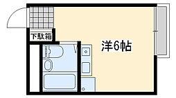アースシティ田尻[105号室]の間取り