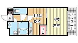 サンフォーレ岡本[3階]の間取り