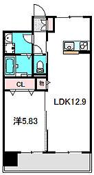 Osaka Metro谷町線 大日駅 徒歩5分の賃貸マンション 10階1LDKの間取り