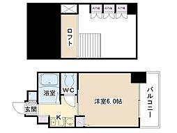 エステムコート梅田東アクアパレス[904号室]の間取り