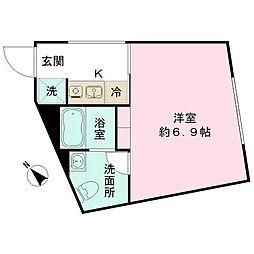 the KOISHIKAWA 4階ワンルームの間取り