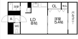 ベルマーレ八軒[5階]の間取り