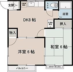 トラリュームフジ[2階]の間取り