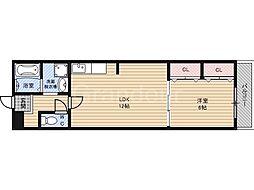 リリーヴ1号館[2階]の間取り