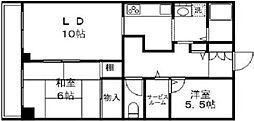 チャコール芝浦[7階]の間取り
