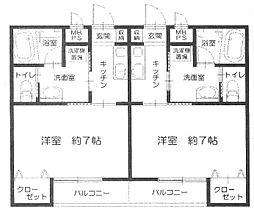 メゾン富士見[105号室]の間取り