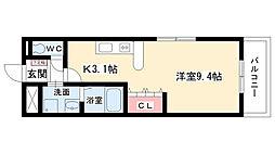 フォレストハウス[105号室]の間取り