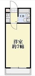 第二メゾンクレール[306号室]の間取り
