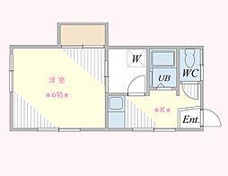 神奈川県横浜市中区石川町3丁目の賃貸アパートの間取り