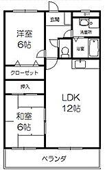 ノ−ブルコ−ト21[2階]の間取り