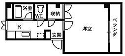 マインズハイツIII[1階]の間取り