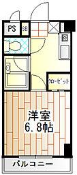 リベルテ原町田[4階]の間取り