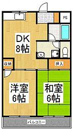 第二市川マンション[3階]の間取り