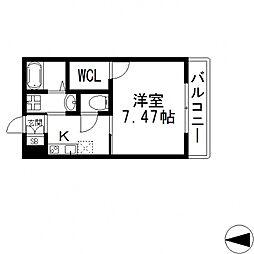 K's Residence瓢箪山(ケーズレジデンス)[101号室号室]の間取り