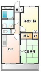 兵庫県姫路市刀出の賃貸アパートの間取り