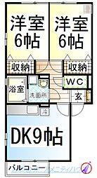 DL グリーンアヴェニューE [D-ROOM][1階]の間取り