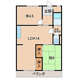 森商マンション[2階]の間取り