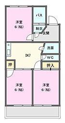 サンビューマンション中京[4階]の間取り
