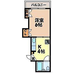 武生ビル[305号室]の間取り
