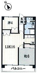 埼玉県坂戸市大字片柳の賃貸マンションの間取り