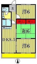 ルーブル早稲田[4階]の間取り