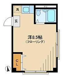 東京都新宿区上落合2丁目の賃貸マンションの間取り