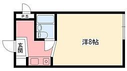 グレースメモリー甲子園[302号室]の間取り