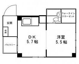 ロゼシャトーヤマザキ[302号室]の間取り