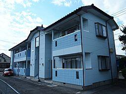 栃木県宇都宮市花房3丁目の賃貸アパートの外観