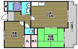 サウスヒル泉ヶ丘[2階]の間取り