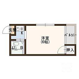 フローラ大倉[2階]の間取り