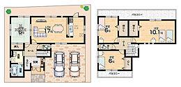 並列2台駐車可能・全居室6帖以上