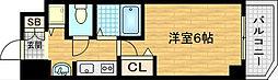 大阪府大阪市北区天神橋8の賃貸マンションの間取り