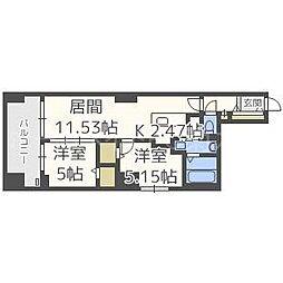 MODENA FINEST[11階]の間取り