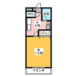 LUZ62[3階]の間取り