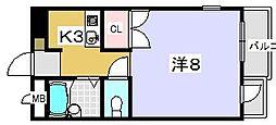プチシャトレ ミシュラン[3階]の間取り