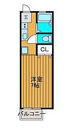 エクセル柿生[2階]の間取り