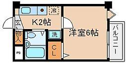兵庫県神戸市長田区宮川町4丁目の賃貸マンションの間取り