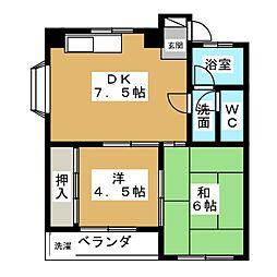 レジデンス栄[3階]の間取り