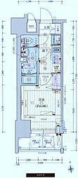 京阪本線 天満橋駅 徒歩5分の賃貸マンション 6階1Kの間取り